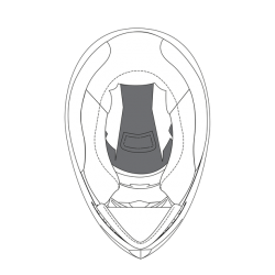 Górna poduszka do kasku K-5 (MS) - N - MS