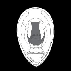 Górna poduszka do kasku K-5 (S) - N - S