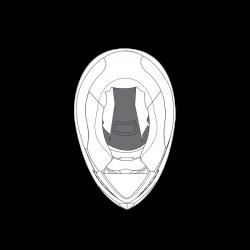 Górna poduszka do kasku AGV K5 S Rozmiar L