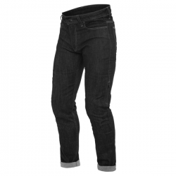 DENIM SLIM TEX PANTS - BLACK