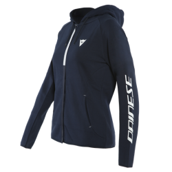 PADDOCK LADY FULL ZIP HOODIE - BLACK-IRIS/WHITE