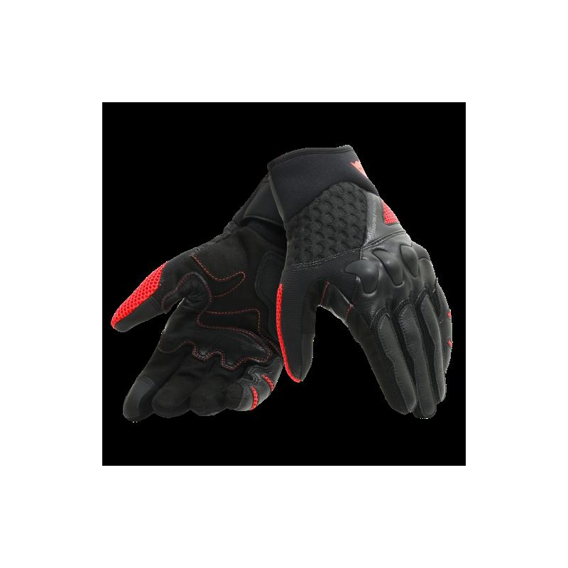 Rękawice Motocyklowe Dainese X-MOTO GLOVES - BLACK/FLUO-RED