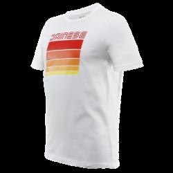 Koszulka Dainese STRIPES T-SHIRT - WHITE/RED