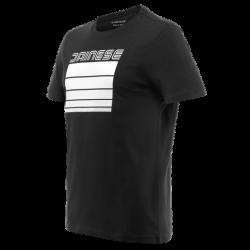 Koszulka Dainese Stripes T-Shirt Czarno Biała