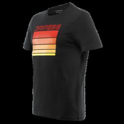 Koszulka Dainese STRIPES T-SHIRT - BLACK/RED