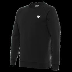 Koszulka Dainese VERTICAL SWEATSHIRT - BLACK/WHITE