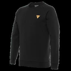 Koszulka Dainese VERTICAL SWEATSHIRT - BLACK/ORANGE