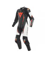 MISANO 2 D-AIR PERF. 1PC SUIT - BLACK/WHITE/FLUO-RED